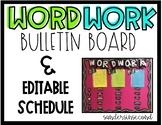 EDITABLE Word Work Bulletin Board
