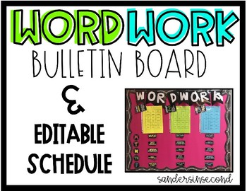 EDITABLE Word Work Bulletin Board
