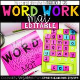 EDITABLE Word Work Mat