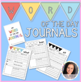 Editable Word of the Day Journals