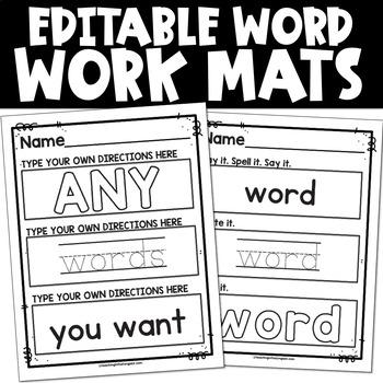 EDITABLE Sight Word Activities Mat (and Name Activities!)