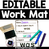 EDITABLE Sight Word Activities Mat (Editable Name Practice and more!)