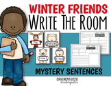 EDITABLE Write the Room for Mystery Sentences-January-Differentiated