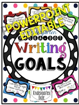 EDITABLE Writing Goals