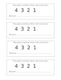 EDITABLE Writing Reflection Rubric