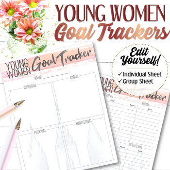 EDITABLE YW Goal Tracking (Individual and Group) - Instant Download