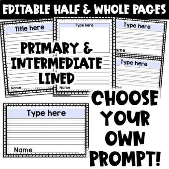 EDITABLE Year Long Writing Prompts Craftivity Bundle