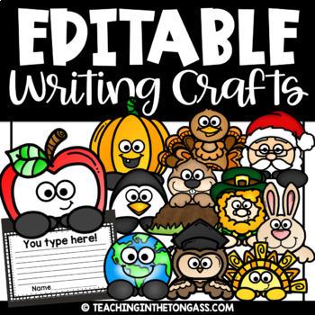 Christmas Writing Crafts (Editable Year Long Bundle)