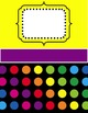 *EDITABLE * Yearly Teacher Binder {Neon Dots}