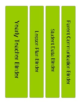*EDITABLE * Yearly Teacher Binder Blueberry and Lime Chevron
