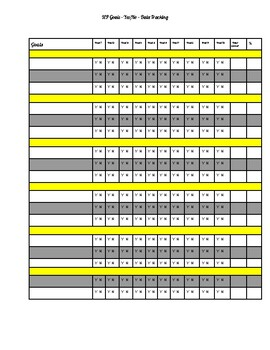 EDITABLE Yes/No IEP Data Tracking Sheet