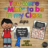 """Meet the Teacher Gift, Back to School - You Were """"MINT"""" to be in my Class Labels"""