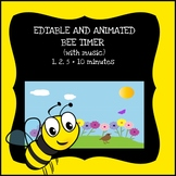 EDITABLE and ANIMATED bee timer (with music)