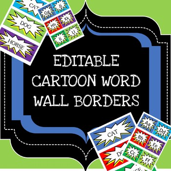 EDITABLE and easy to change word wall!