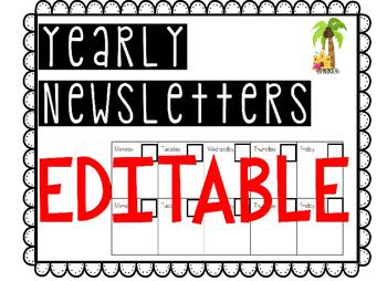 EDITABLE bi-weekly newsletters