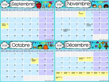 Calendrier Pour La Classe.Editable Calendar Classroom Modifiable Calendrier Pour La Classe