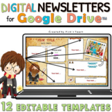 EDITABLE classroom NEWSLETTER templates for GOOGLE DRIVE™ Wizard parchments 4