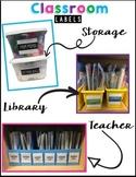 EDITABLE classroom labels {Simple & Fun Neon Colors}