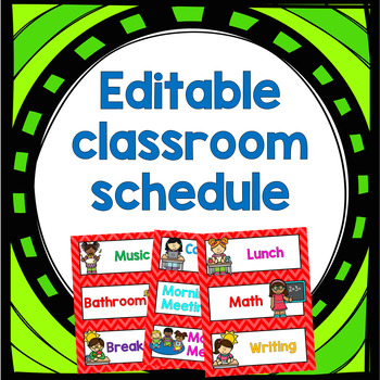 EDITABLE daily schedule for primary grades