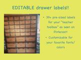 "EDITABLE drawer labels for ""Teacher Toolbox"""