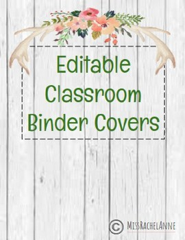 EDITABLE farmhouse-wood Binder Covers