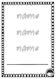 EDITABLE first name TRACE 3 times sheets K PP Prep QLD beginners font 12 designs