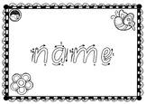 EDITABLE ~ first name TRACE sheets for K PP Prep SA BEGINNERS font 10 designs
