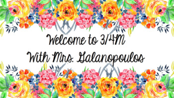 EDITABLE floral watercolour welcome sign