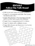 EDITABLE follow the Maze Path