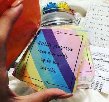 EDITABLE gratitude jar notes