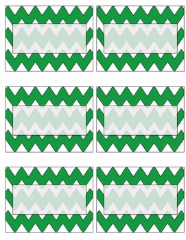 EDITABLE green chevron name tags or labels