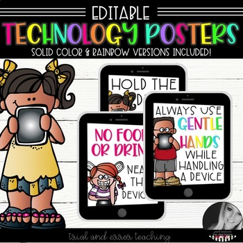 EDITABLE: iPad, Device, Tablet, Technology Posters