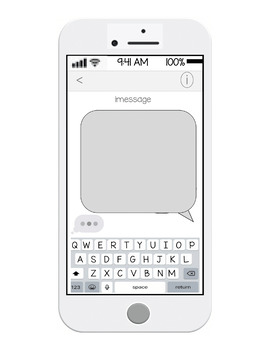 EDITABLE! iPhone Messaging Template