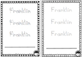 EDITABLE name TRACE 3 times sheets K PP Prep BALL & STICK font 12 designs
