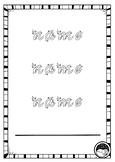 EDITABLE name TRACE 3 times sheets K PP Prep VIC MOD CURSIVE font 12 designs