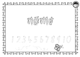 EDITABLE name TRACE and numbers to 10 K PP Prep FOUNDATION font 10 designs