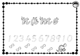 EDITABLE name TRACE and numbers to 10 K PP Prep VIC MOD CURSIVE font 10 designs