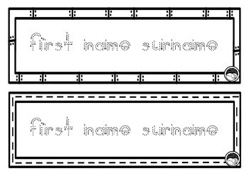 EDITABLE name TRACING TEMPLATE 2 names per page K PP Prep BALL STICK font