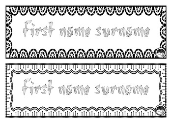 EDITABLE name TRACING TEMPLATE 2 names per page K PP Prep FOUNDATION font