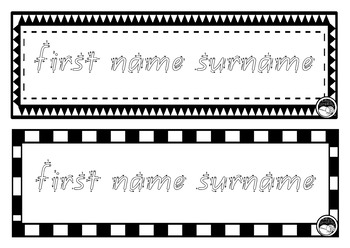EDITABLE name TRACING TEMPLATE 2 names per page K PP Prep QLD Beginners font
