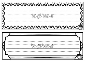 EDITABLE name TRACING TEMPLATE 2 names per page K PP Prep VIC MOD CURSIVE font