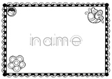 EDITABLE name TRACING TEMPLATE BUNDLE in BALL & STICK Font - 5 sets