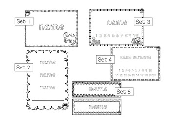 EDITABLE name TRACING TEMPLATE BUNDLE in UK school style font - 5 sets