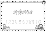 EDITABLE name TRACING TEMPLATE BUNDLE in Beginners Qld Font - 5 sets