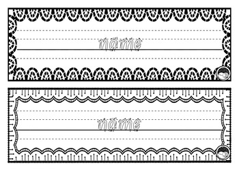 EDITABLE name TRACING TEMPLATE BUNDLE in Foundation Font - 5 sets