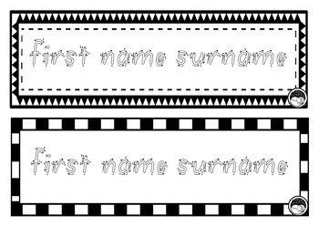 EDITABLE name TRACING TEMPLATE BUNDLE in South Australian SA Font - 5 sets