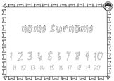 EDITABLE name numbers to 20 TRACING TEMPLATE K PP Prep FOUNDATION font