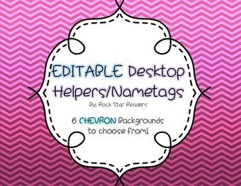 EDITABLE name tags / desktop helpers - CHEVRON