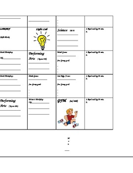 EDITABLE planbook page