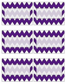 EDITABLE purple chevron name tags or labels